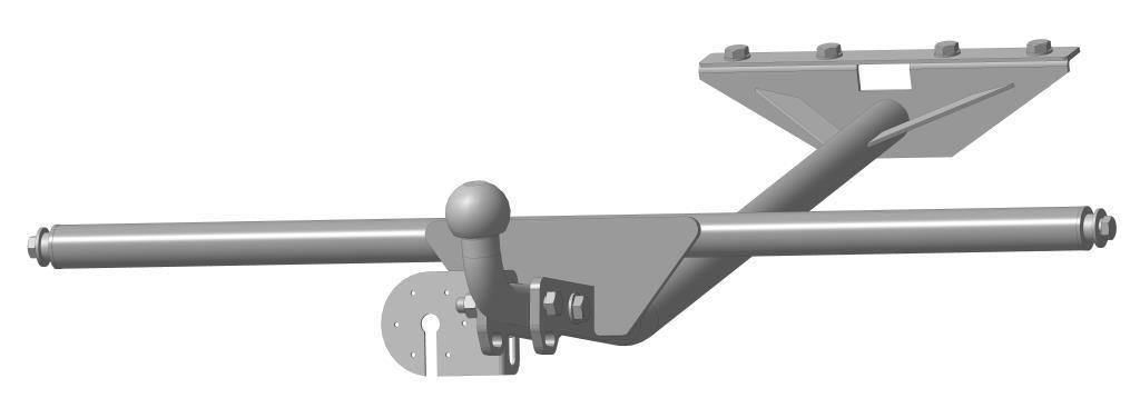 Фаркоп Bosal 1203-A на ВАЗ Lada  2105, 21051, 21053, 2107, 21071, 21073 седан 1981–2012 в комплекте с электрикой