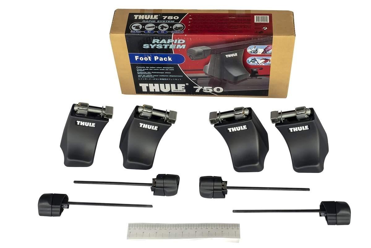 Упоры THULE 750 для автомобилей с гладкой крышей