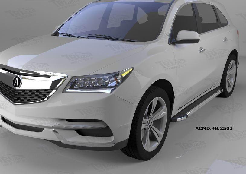 Can Otomotiv ACMD.48.2503 пороги алюминиевые (Brillant) Acura MDX (2014-)(черн/нерж)