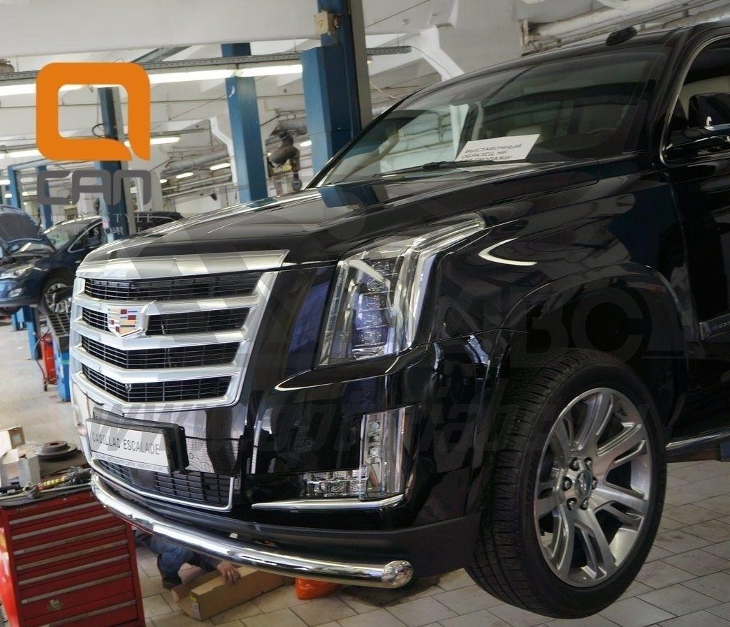 Can Otomotiv CAES.33.3348 защита переднего бампера Cadillac Escalade (2014-) (одинарная) d 76