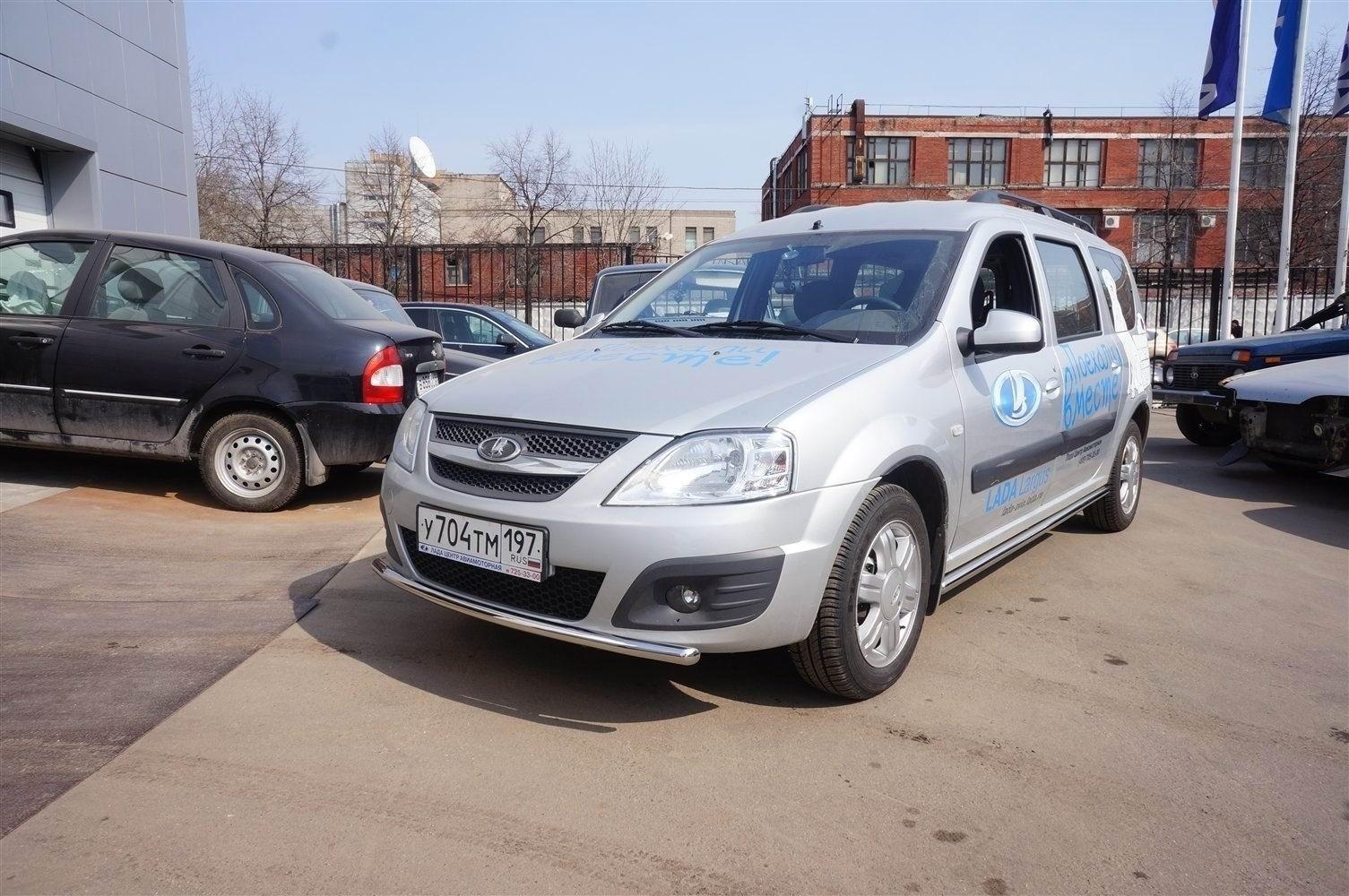 Can Otomotiv DCLM.33.0450 защита переднего бампера труба d42mm Dacia Logan MCV