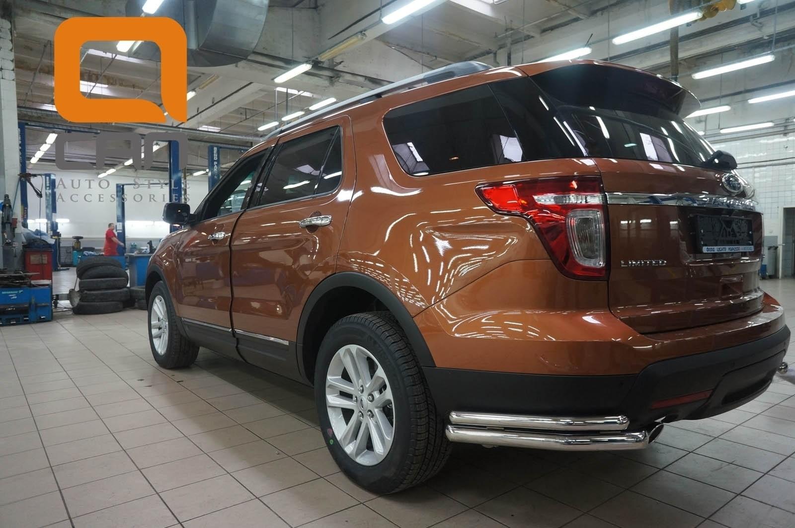 Can Otomotiv FOEX.53.9208 защита заднего бампера Ford Explorer (2013-2015) (уголки) d 60/42