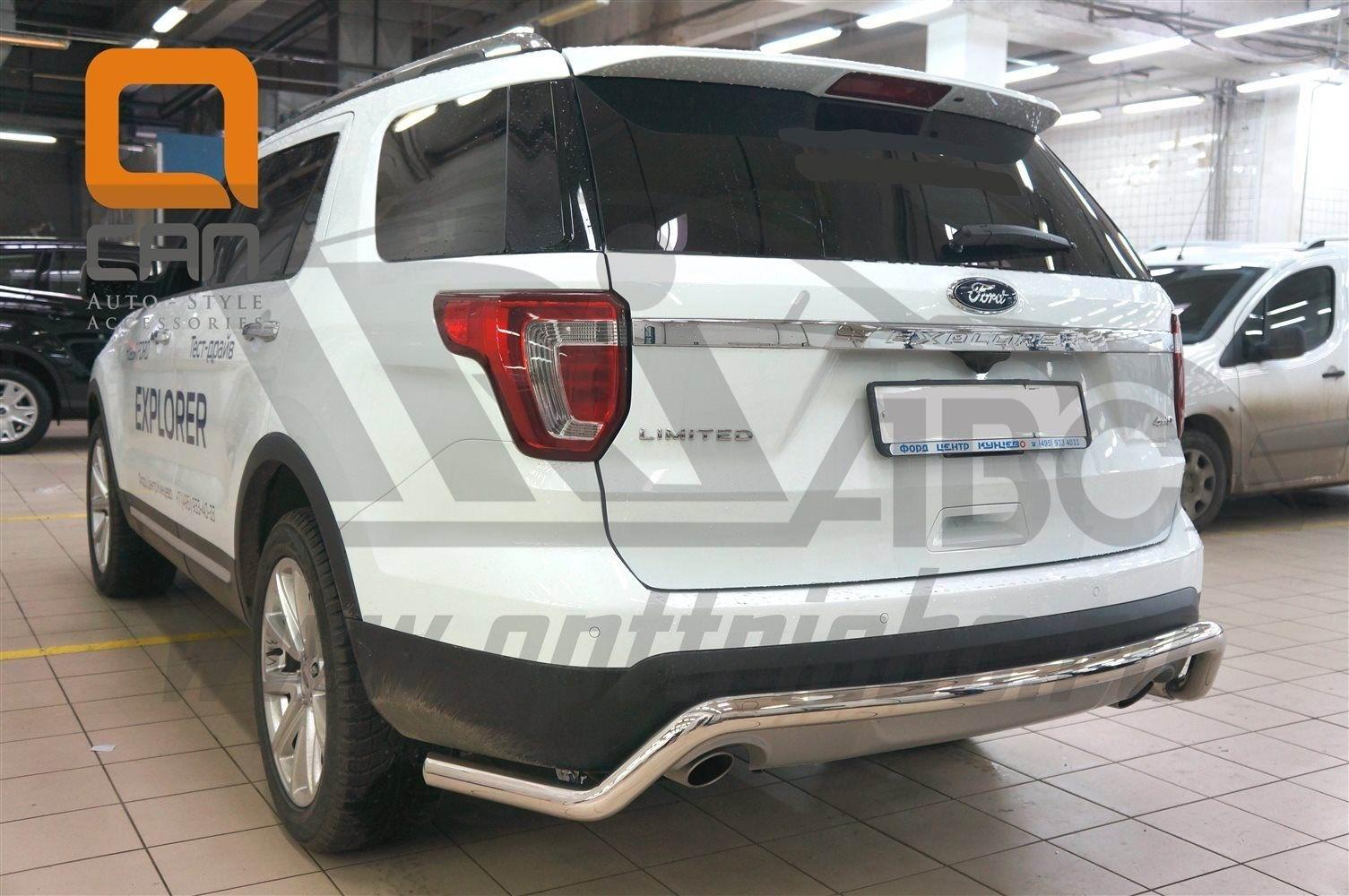 Can Otomotiv FOEX.55.9209 защита заднего бампера Ford Explorer (2015-) (одинарная волна) d60