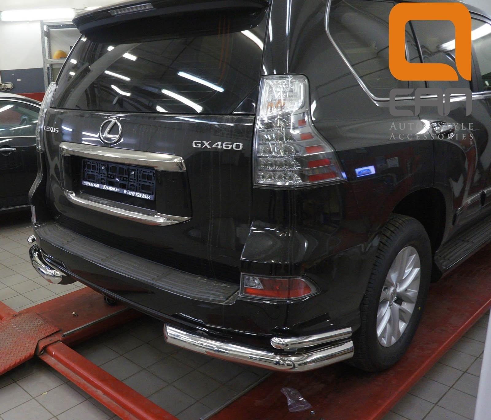 Can Otomotiv LE46.53.4605 защита заднего бампера Lexus GX460 (2014-) (уголки) d 76/42