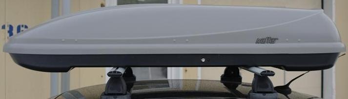 Koffer T-600 автобокс серый матовый 187х63x37 см