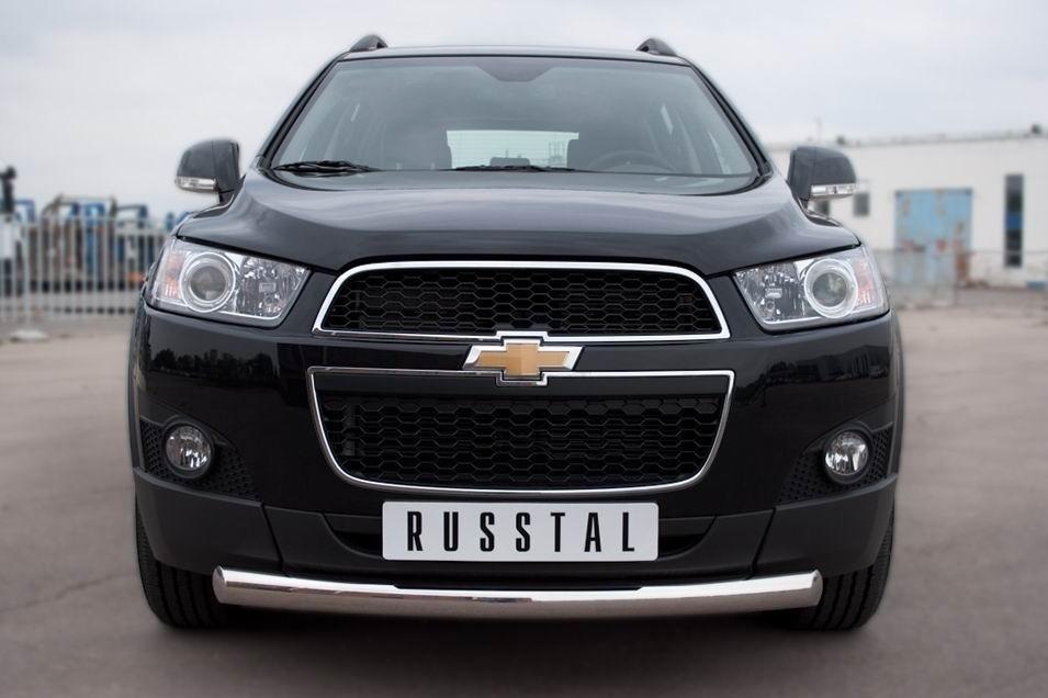Руссталь CHCZ-000823 защита переднего бампера d76 (дуга) на Chevrolet Captiva 2011-2013