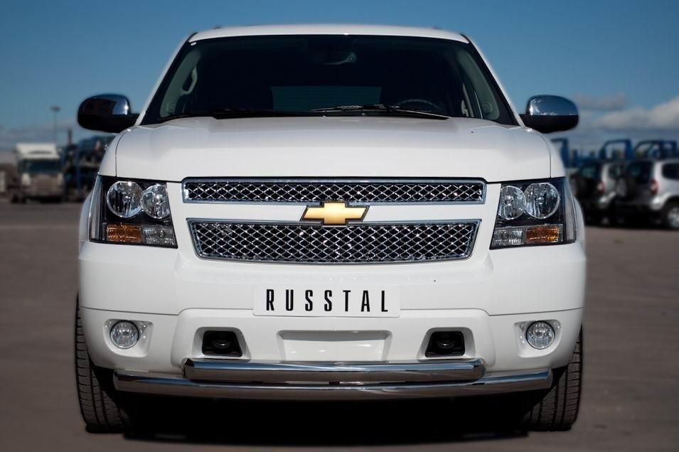 Руссталь CTHZ-000928 защита переднего бампера d76/76 на Chevrolet Tahoe 2012-
