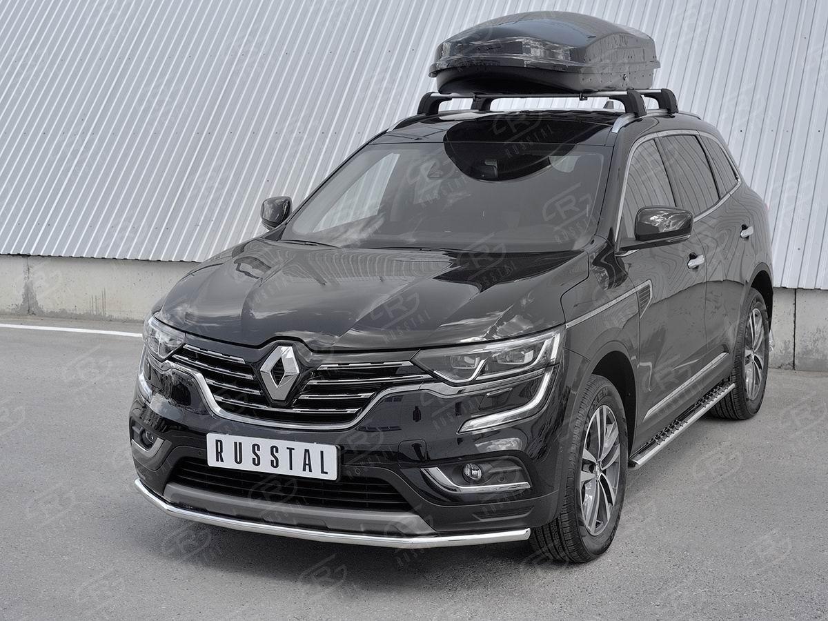 Руссталь RKZ-002968 защита переднего бампера d42 секции на Renault Koleos 2017-