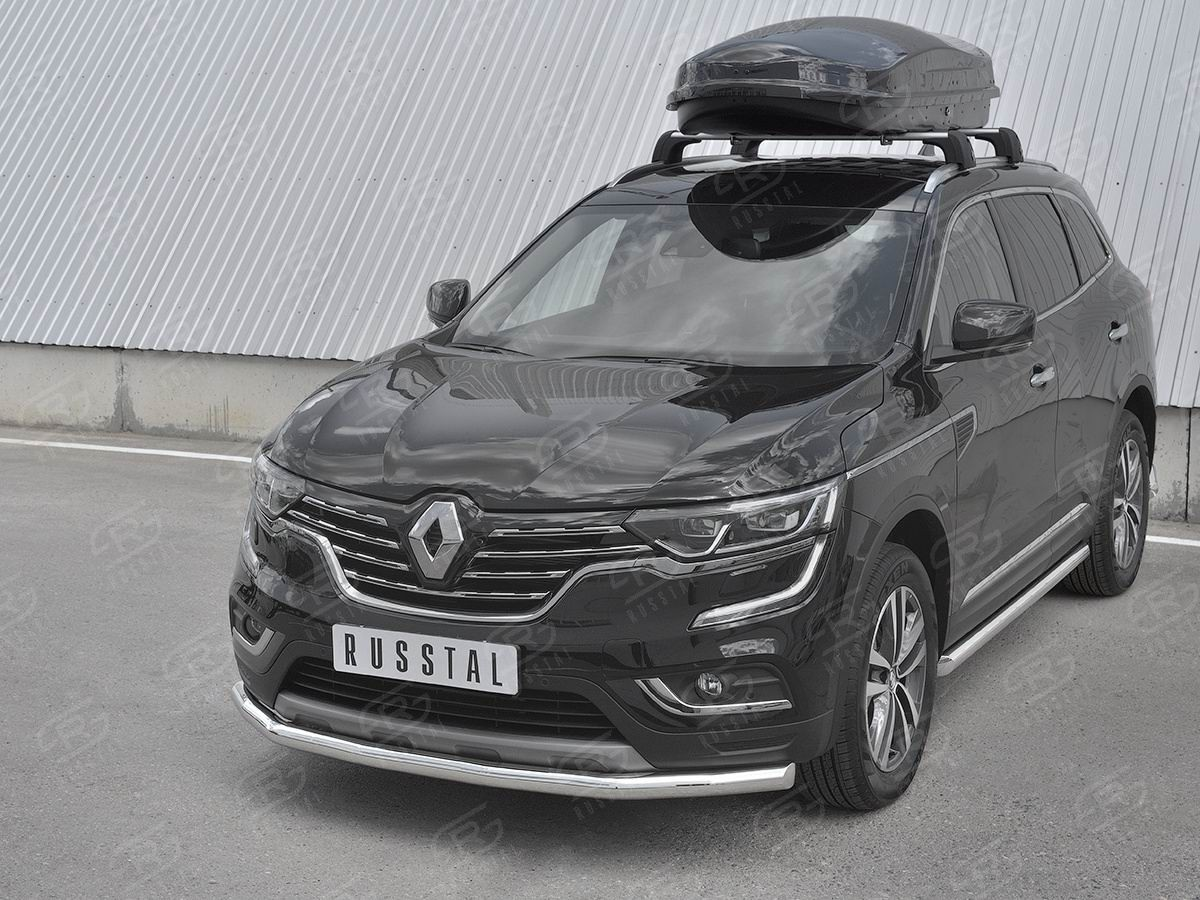 Руссталь RKZ-002969 защита переднего бампера d63 секции на Renault Koleos 2017-