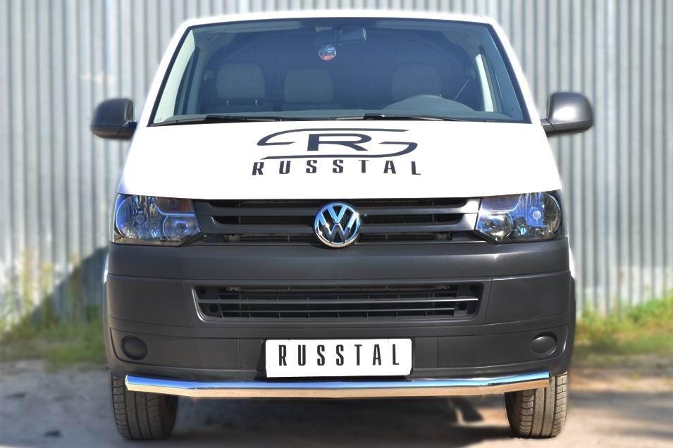 Руссталь VTKZ-001395 защита переднего бампера d63 (секции) на Volkswagen Multivan 2010-