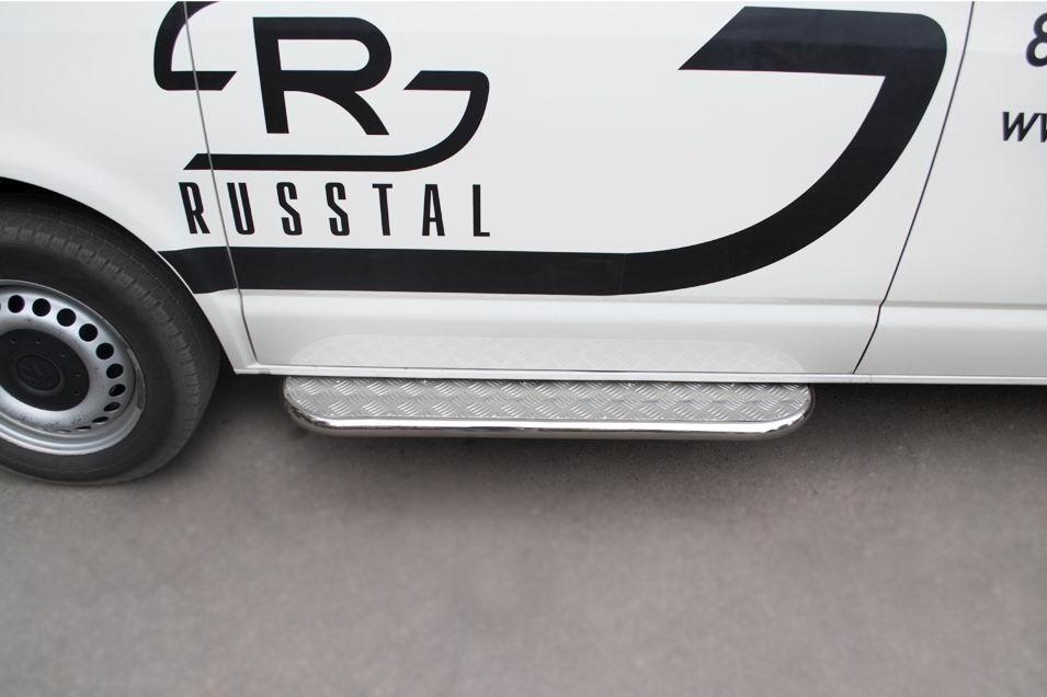 Руссталь VTRL-000605 пороги труба d42 с листом на Volkswagen Transporter kasten 2003-2009