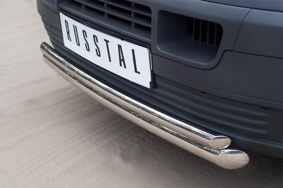 Руссталь VTRZ-000601 защита переднего бампера d63/42 (дуга) на Volkswagen Transporter kasten 2003-2009