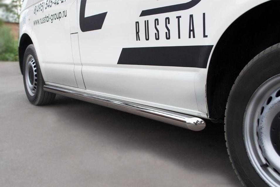 Руссталь VTRZ-0006041 пороги труба d63 (вариант 1) (правый) на Volkswagen Transporter kasten 2003-2009