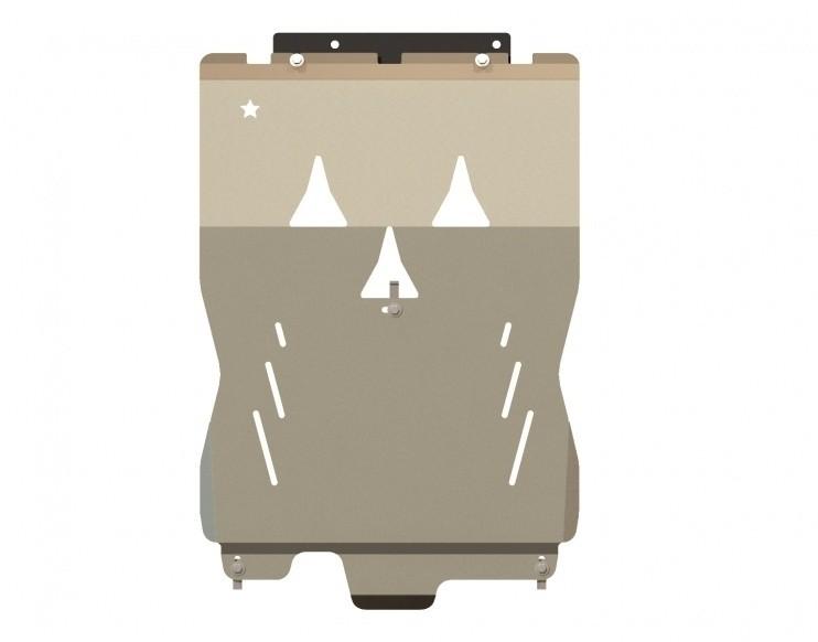 Защита картера и КПП алюминий 5 мм Шериф 02.0978 V2 Audi A4  (Avant)  4WD 2006–2008