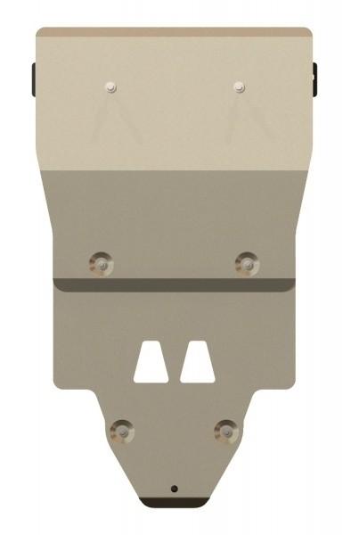 Защита картера и КПП алюминий 5 мм Шериф 02.2330 Audi A6 Quattro на пыльник 2011–