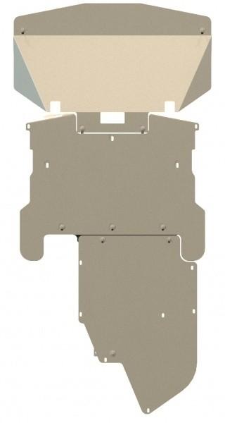 Защита картера и КПП алюминий 5 мм Шериф 03.0557 BMW 5ER 2003–2010