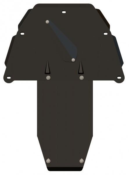 Защита картера и КПП сталь 2 мм Шериф 03.0825 BMW 7ER 2001–2008