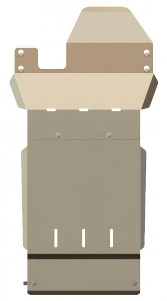 Защита КПП и РК алюминий 5 мм Шериф 04.0841 Land Rover Defender 90/110 2004–2011–