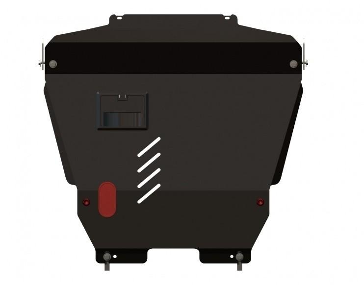 Защита картера и КПП сталь 2 мм Шериф 04.0910 Chevrolet Aveo 2006–2008