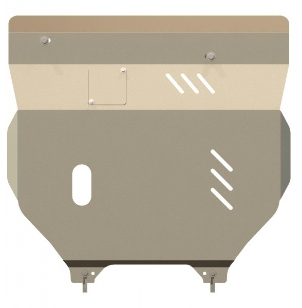 Защита картера и КПП алюминий 5 мм Шериф 04.0952 Jeep Liberty 2007–