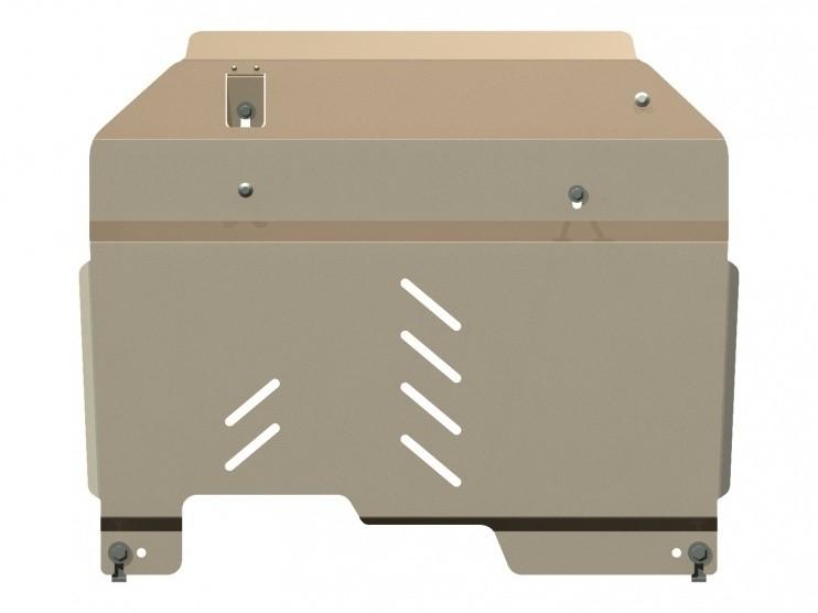 Защита картера и КПП алюминий 5 мм Шериф 04.1074 Chevrolet Captiva 2006–2011