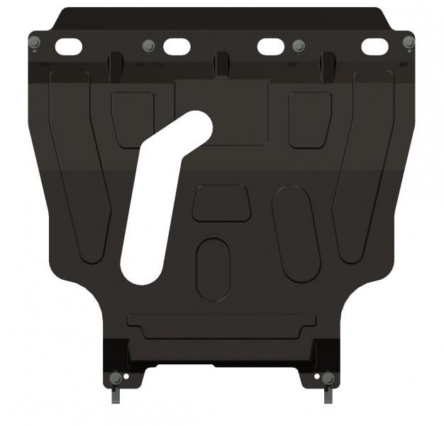 Защита картера и КПП сталь 2 мм Шериф 04.1237 Chevrolet Lanos с пламягасителем 2007–