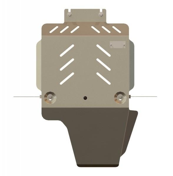 Защита КПП и РК алюминий 5 мм Шериф 04.1320 Land Rover Discovery 4 2010–