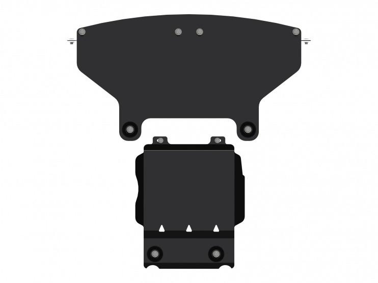 Защита картера сталь 3 мм Шериф 04.2569 Jeep Grand Cherokee SRT 2013–