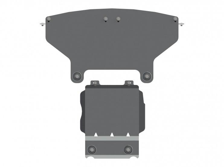 Защита картера алюминий 5 мм Шериф 04.2570 Jeep Grand Cherokee SRT 2013–