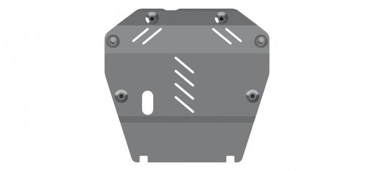 Защита картера и КПП алюминий 5 мм Шериф 04.2628 Chevrolet Captiva 2011–
