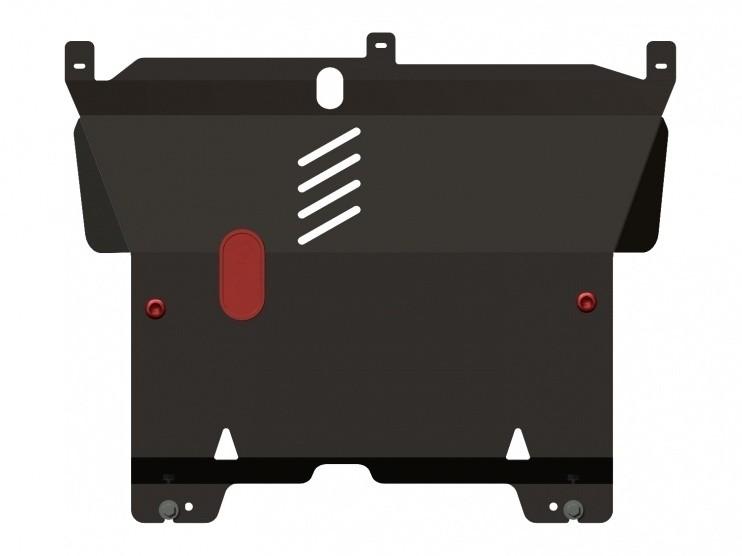 Защита картера и КПП сталь 2 мм Шериф 05.1231 Citroen C1 2005–