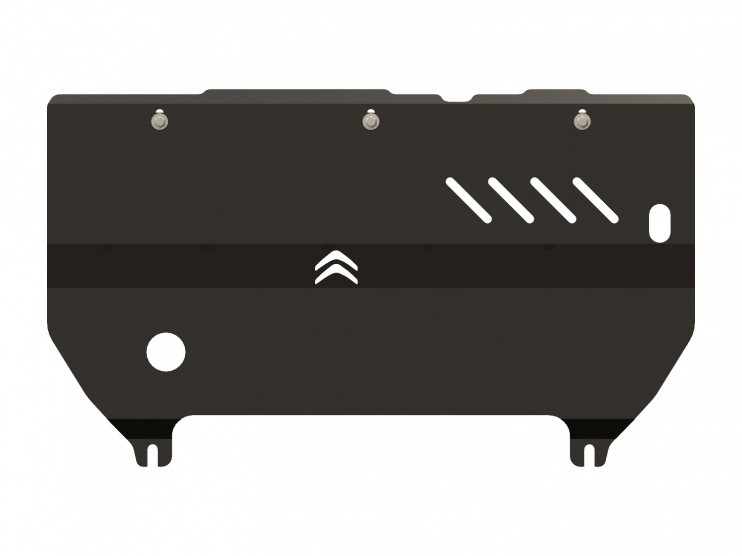 Защита картера и КПП сталь 2,5 мм Шериф 05.1765 Citroen C3 2009–