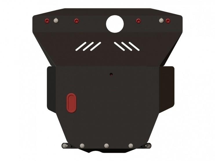 Защита картера и КПП сталь 2 мм Шериф 06.0180 Daewoo Leganza (Condor) Донинвест 1997–2003