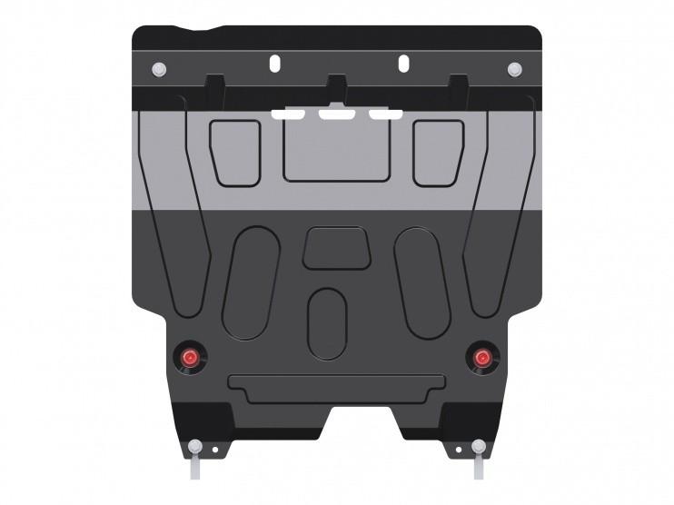 Защита картера и КПП сталь 1,8 мм Шериф 06.2461 Daewoo Gentra 2013–
