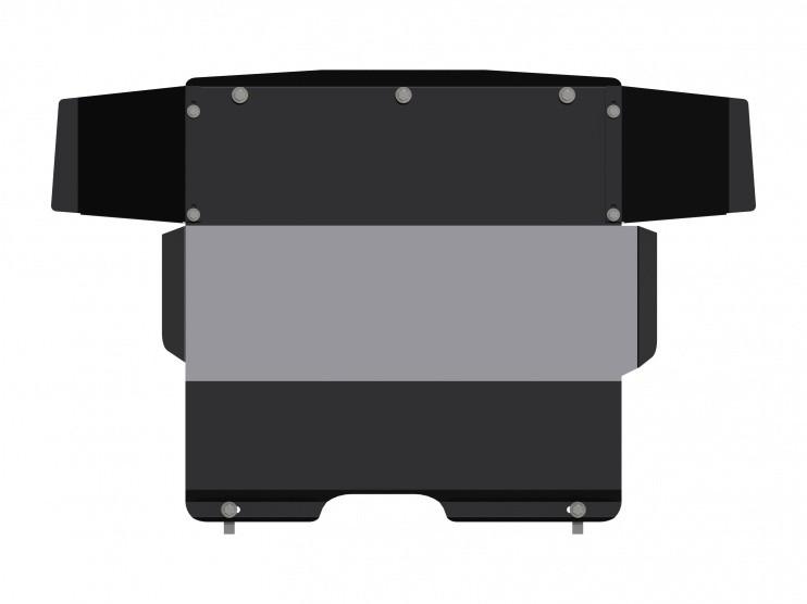Защита картера и КПП сталь 2 мм Шериф 07.0108 Fiat Tempra 1990–1998