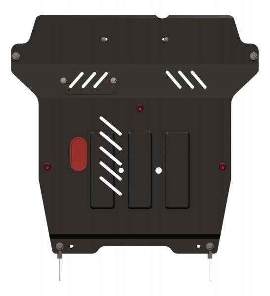 Защита картера и КПП сталь 2 мм Шериф 07.0931 Fiat Sedici 2005–