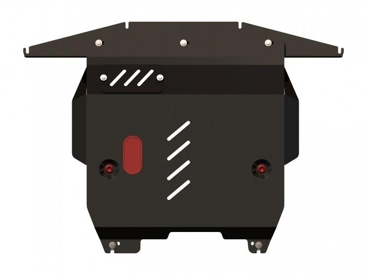 Защита картера и КПП сталь 2 мм Шериф 07.0995 Fiat Panda 2003–