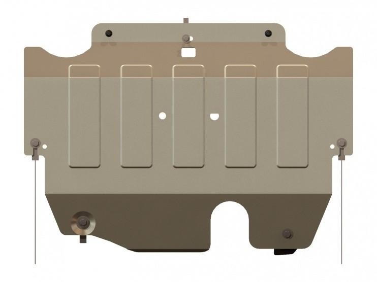 Защита картера и КПП алюминий 4 мм Шериф 08.2436 Ford Mondeo 2007–