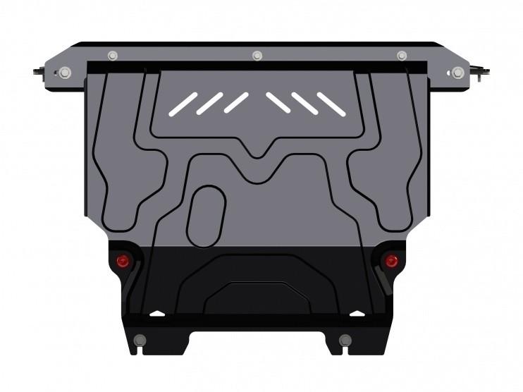 Защита картера и КПП сталь 2 мм Шериф 08.2526 Ford Fiesta 2008–2013