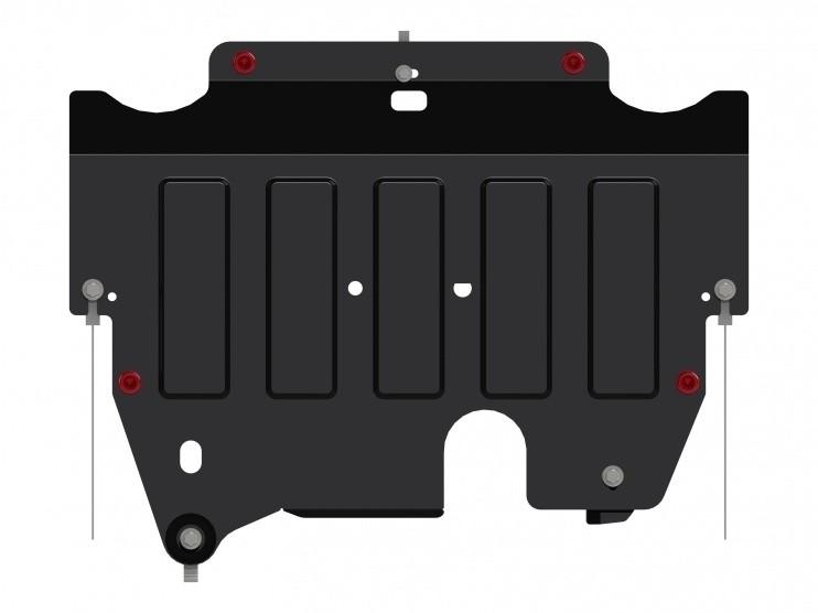 Защита картера и КПП сталь 2 мм Шериф 08.2745 Ford Galaxy 2013–