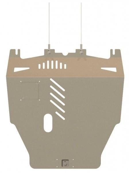 Защита картера и КПП алюминий 5 мм Шериф 09.0971 Honda Civic Type R 2006–2012