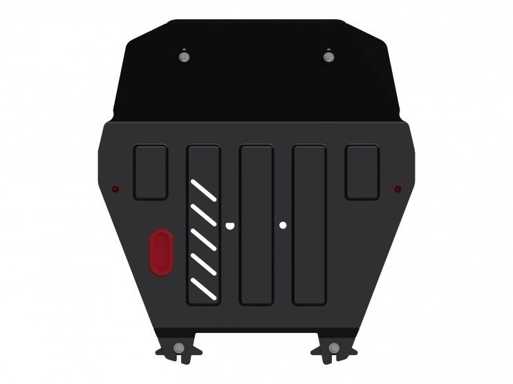 Защита картера и КПП сталь 2,5 мм Шериф 09.2692 Honda Ridgeline 2009–2014