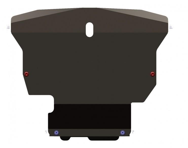 Защита картера и КПП сталь 2 мм Шериф 10.0279 Hyundai Verna 2000–2006