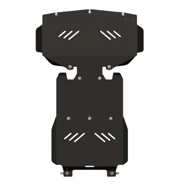 Защита картера и КПП сталь 2 мм Шериф 10.1444 Hyundai HI (Grand Starex) 2007–