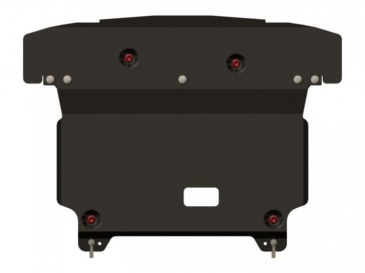 Защита картера и КПП сталь 2,5 мм Шериф 10.2316 Hyundai Santa Fe с крыльями 09.2012–