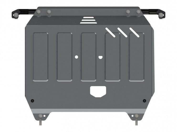 Защита картера и КПП алюминий 4 мм Шериф 10.2470 Hyundai Solaris 2010–