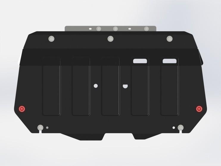 Защита картера и КПП сталь 2 мм Шериф 12.2491 Mazda 3 2013–