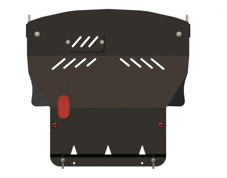 Защита картера и КПП сталь 2,5 мм Шериф 14.0736 Mitsubishi Colt 2004–2009