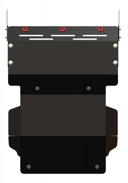 Защита картера сталь 2,5 мм Шериф 14.1100 Mitsubishi Pajero 1982–1990