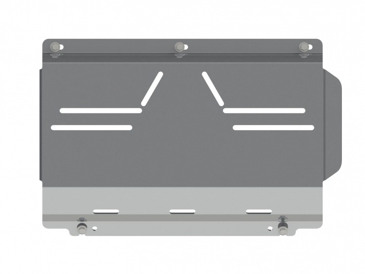 Защита картера алюминий 5 мм Шериф 14.1144 Mitsubishi Pajero Sport II передняя часть 2008–